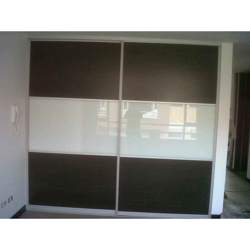 Fachadas closet aluminio vidrio melaminico dimalca for Closet de aluminio