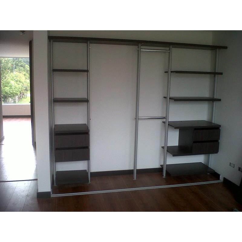 Closet aluminio vidrio melaminico dimalca for Closet de aluminio